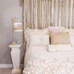 cabeceros para camas casero con cortinas