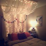 cabecera de cama tipo cortina