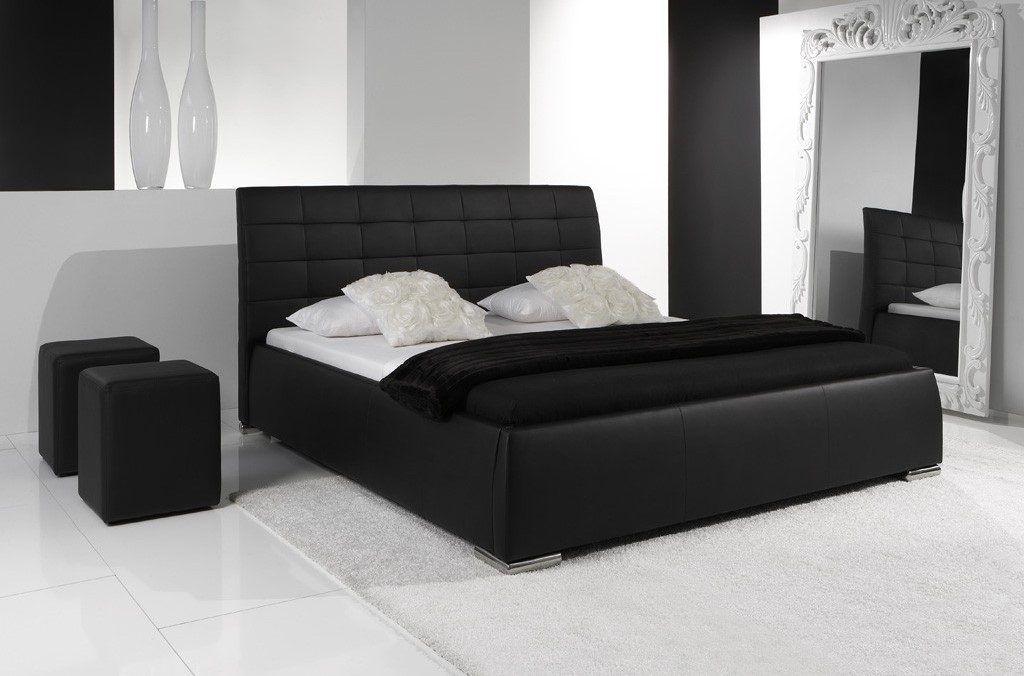 cabecera negra, resplado negro, cabezal de cama negro de piel sintética