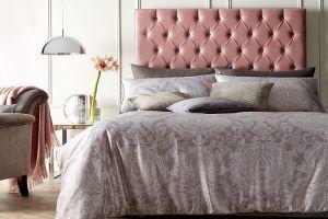 cabecero de forja para camas rosa