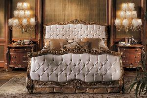 cabeceros de cama tapizados con madera