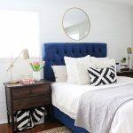 cabecero cama 135 polipiel azul