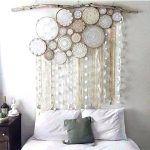 cabecero original hecho de cortina