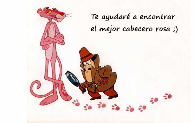 pink panther, pantera rosa te ayuda a elegir el mejor cabezal de cama color rosa de cabeceros.org